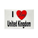 I Love United Kingdom Rectangle Magnet (10 pack)