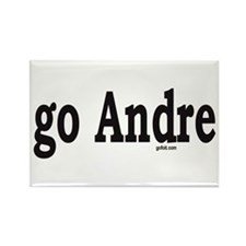 go Andre Rectangle Magnet