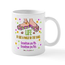 Life is like a walk in the sand Mug