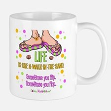 Life is like a walk in the sand Small Small Mug