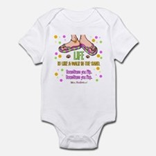 Life is like a walk in the sand Infant Bodysuit