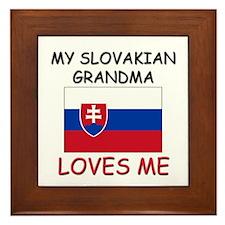 My Slovakian Grandma Loves Me Framed Tile