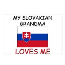 My Slovakian Grandma Loves Me Postcards (Package o