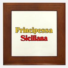 Principessa Siciliana Framed Tile