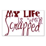 Well Scrapped Rectangle Sticker 50 pk)