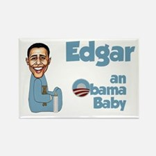 Edgar - an Obama Baby Rectangle Magnet