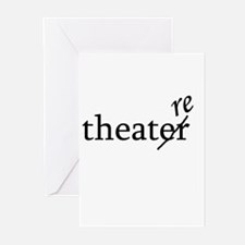"""Theatre Spelled """"re"""" Greeting Cards (Pk of 20)"""
