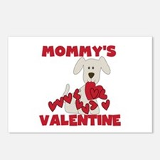 Dog Mommy's Valentine Postcards (Package of 8)