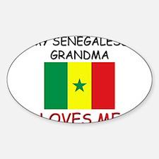 My Senegalese Grandma Loves Me Oval Decal