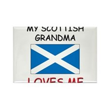 My Scottish Grandma Loves Me Rectangle Magnet