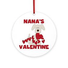 Dog Nana's Valentine Ornament (Round)