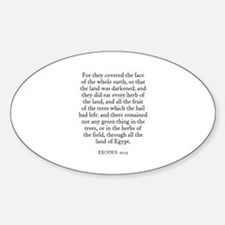 EXODUS 10:15 Oval Decal