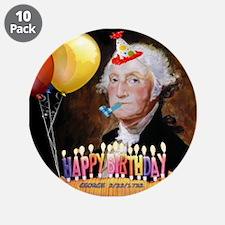 "George Washington 3.5"" Button (10 pack)"