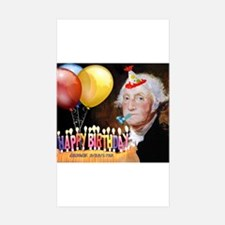 George Washington Rectangle Sticker 50 pk)