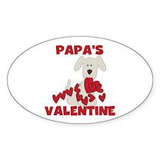 Dog Papa's Valentine Decal