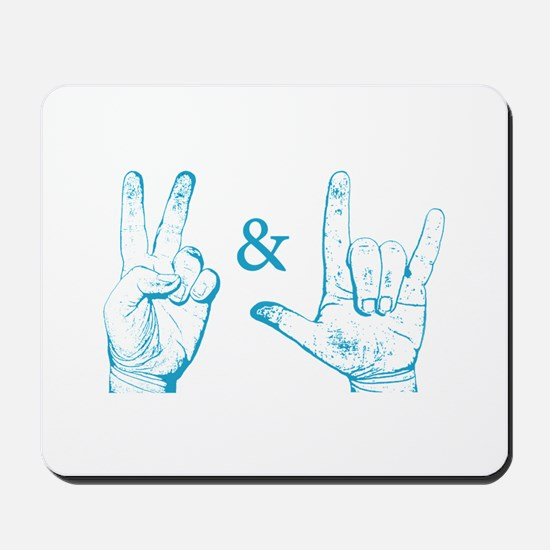 Peace & Love Sign Mousepad