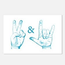 Peace & Love Sign Postcards (Package of 8)