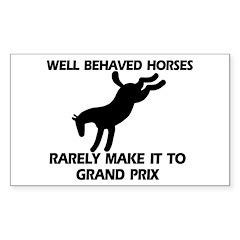 Well Behaved Horses Rectangle Sticker 10 pk)