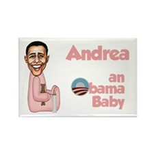 Andrea - an Obama Baby Rectangle Magnet