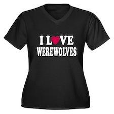 I L<3VE Werewolves Women's Plus Size V-Neck Dark T