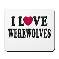 I L<3VE Werewolves Mousepad