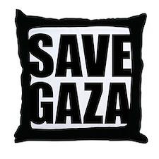 SAVE GAZA Throw Pillow