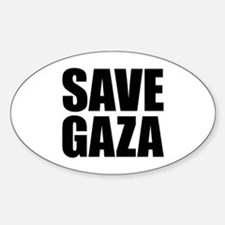 SAVE GAZA Oval Decal