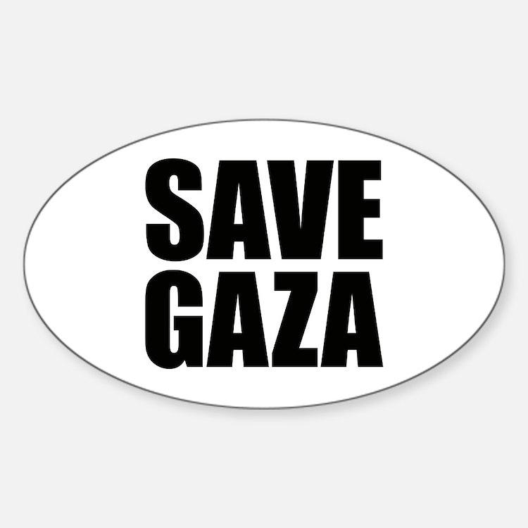 SAVE GAZA Oval Decal