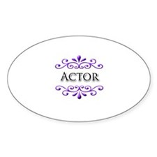 Actor Name Badge Oval Decal