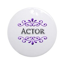 Actor Name Badge Ornament (Round)