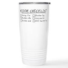 Horse Rider Checklist Ceramic Travel Mug