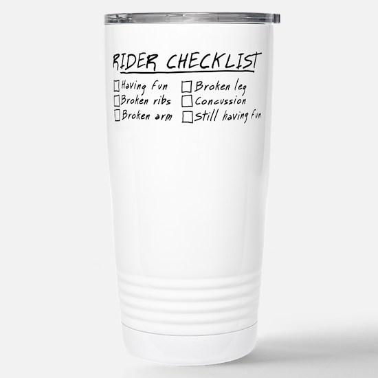 Horse Rider Checklist Stainless Steel Travel Mug