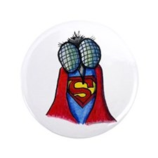 """A Super Fly Illustration 3.5"""" Button"""