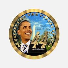"""Obama Inauguration"" 3.5"" Button (1"