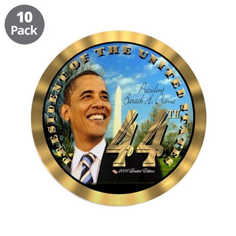 """Obama Inauguration"" 3.5"" Button (10 pack)"