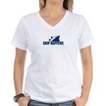 Ship Happens Women's V-Neck T-Shirt