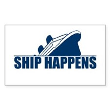 Ship Happens Rectangle Stickers
