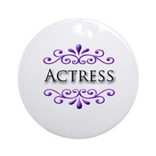Actress Name Badge Ornament (Round)