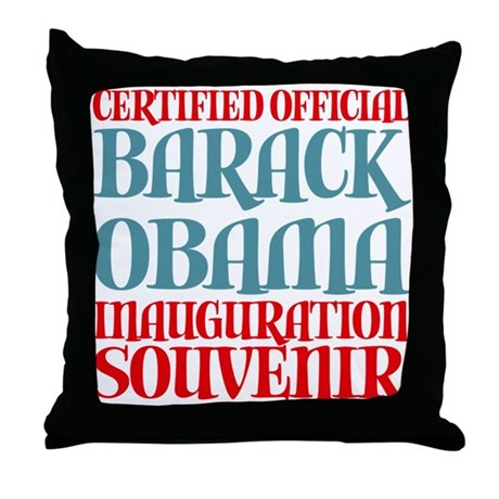 Official Obama Inauguration Souvenir Throw Pillow
