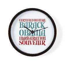 Official Obama Inauguration Souvenir Wall Clock