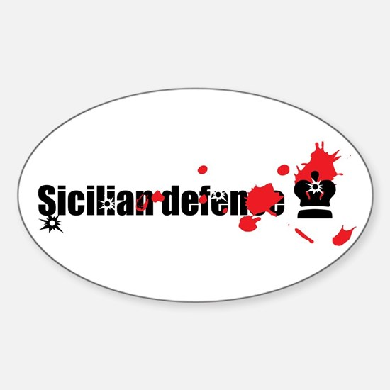 Sicilian Defense Chess Oval Decal