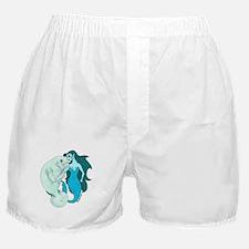Manatee and Mermaid Boxer Shorts