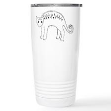 Mad Stripey Kitty Travel Mug