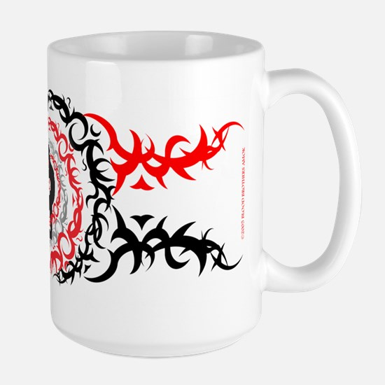 Large Burning Man Spirals Tattoo Mug