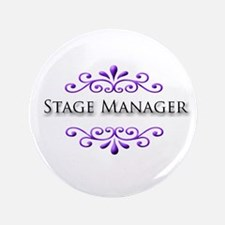"Stage Manager Name Badge 3.5"" Button"