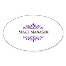 Stage Manager Name Badge Oval Decal