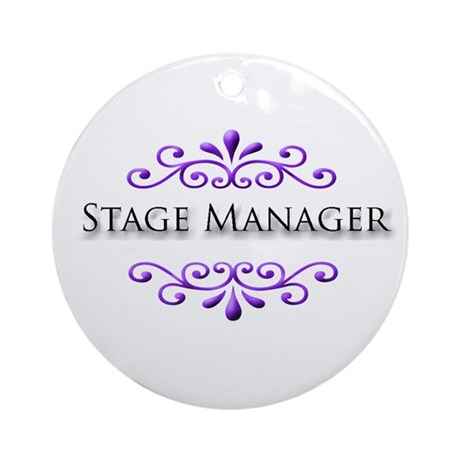 Stage Manager Name Badge Ornament (Round)