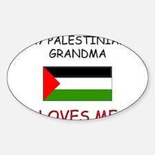 My Palestinian Grandma Loves Me Oval Decal