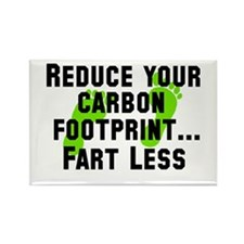 REDUCE YOUR CARBON FOOTPRINT. Rectangle Magnet
