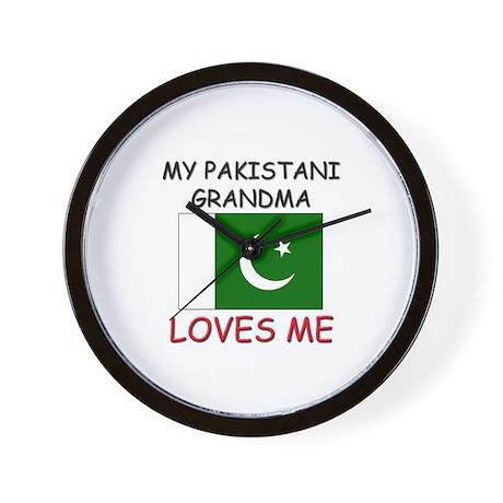 My Pakistani Grandma Loves Me Wall Clock
